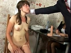 Kinky naked interview for young secretary