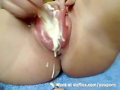 MASOCHIST SLUT FISTING AND HUGE INSERTIONS