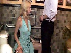 Having a fuck in restaurant toilet