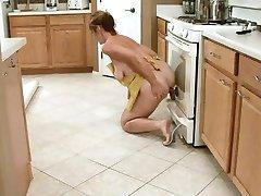 Housewife Fucks Her Black Dildo
