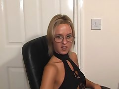 British Suzie Best in glasses gets fucked and spunked on.