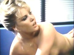 Guy with mustache plows busty blonde in the office