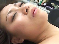 Sexy japanese Miss Aizawa massage,toyed,and threesome