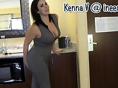 Fresh Kenna V. wetting her panties and spandex