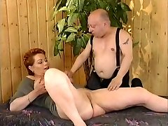 Sandy-haired-Shorthair Milf fucked by General von Midget