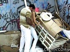 Wonderful Brazilian model works as hooker in nasty alley