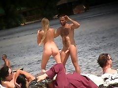 hard cock on beach 2
