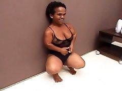 Oscuro Brasileña Edad Midget Atornillado Maravilloso