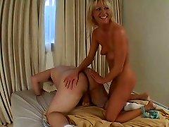 Horny Ashley blows fat dick