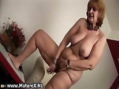 Old naked housewife is sucking big part5