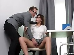 She Is Nerdy - Hard slurping fuck for an A