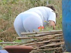 Spying Mom Butt - Chubby Plumper Granny - Mature Ass Booty