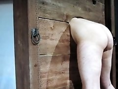 Enslaved tramp punished with hot wax