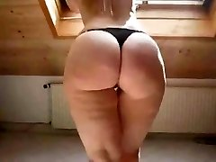Sexy Light-haired in High Heels Showcases Off Her Chubby Ass
