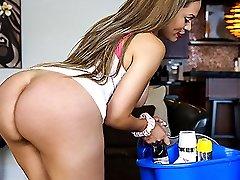 Samantha Bell in Big Booty Latina Maid Gets PIPED  - BangBros