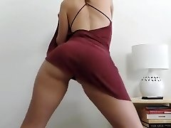 Chick undressing and dancing