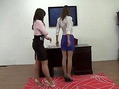 Office gal moment