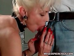 My Sexy Piercings Super Hot french granny with pierced pussy anal