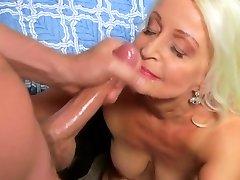sexy grannie 65y goes to porn