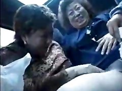 Grandmother asians in bus