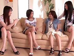 Japanese Manhood Shared by Group of Kinky Women 1