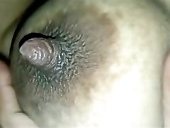 indian wife milky boobs and nipple squeezed for milk by her hubby