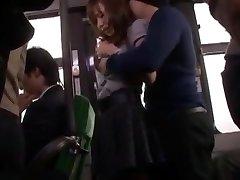 Hottest Japanese model Nana Konishi in Outstanding Gang-fuck, Stockings JAV clip