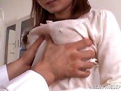 Buxom teacher Rina Ishihara has bang-out in a hospital