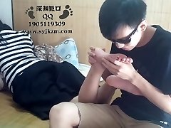 Asian Student Foot Worship