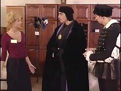 2 magicians and saleswomen