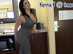 New Kenna V. soaking her panties and spandex