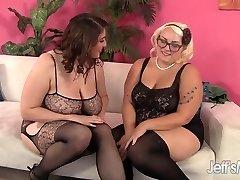 Super-naughty Lesbians Angel DeLuca nd Jade Rose strapon fuckfest