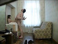 Russian whore with ugly fat old man. Hidden web cam.