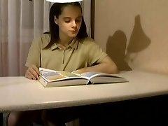 not daddy Interrupts Her Studies !