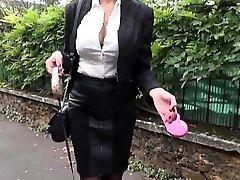 Sumptuous Milf Ania fucked in stockings