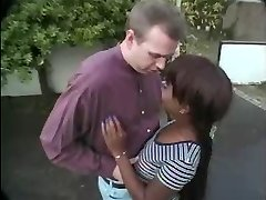 Kenya and white boy blowjob outdoor