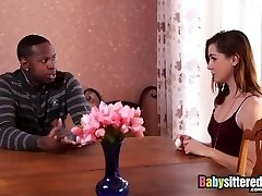 Babysittered - Father with a Big Black Cock Plumbs the Babysitter