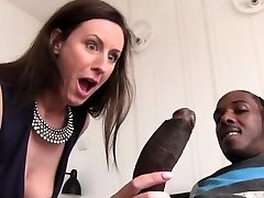 Lara Spandex Quenches Her Thirst For Black Cock