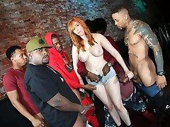 Interracial Orgy With Chesty Bartender Lauren Phillips