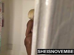Ebony Stunner Step Sister Pissing & Shower Voyeur Fuck By Bro