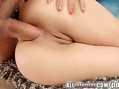 Pumping cum into butt