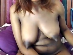 Immense ebony tits long tweaky nipples