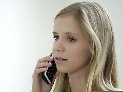 BLACKED Small blonde teen Rachel James first big dark-hued cock