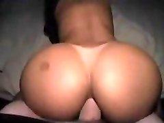Big white jizz-shotgun jizz shot in black booty