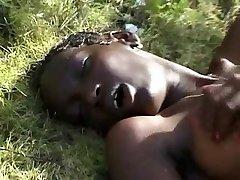 Hairy Skinny African Teenie on BWC