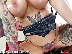 Big Globes Tattooed MILF on Yam-sized Black Cock