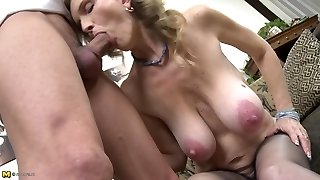 Torrid mature intercourse with dirty mom and son