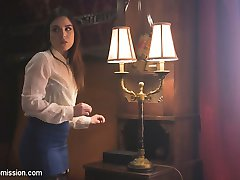 When a beautiful but desperate grad student applies for a housekeeping job at a mysterious estate, her new job duties take her to the dark side of service, bondage and sex.Juliette March play a sexy and vulnerable young woman drawn into Derrick Pierce's house of domination. Juliette submits to Derrick's bondage, nipple clamps, gags, whipping, hard anal sex and sexy, sexy humiliation.