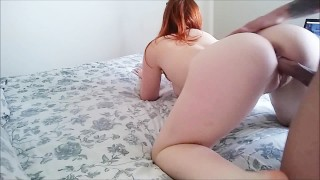 PALE Ginger-haired PAWG GETS Poked ORAL CUMSHOT