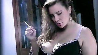 Unbelievable amateur Smoking, Big Tits porn movie
